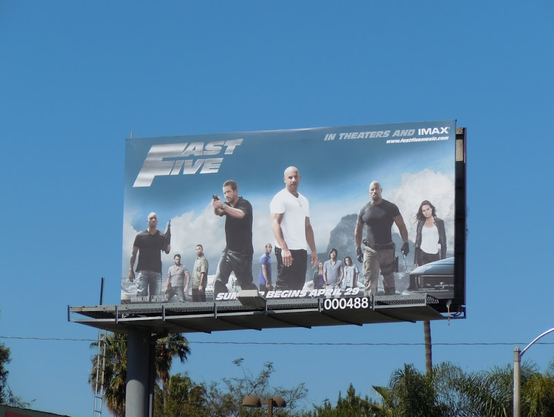 Fast Five billboard