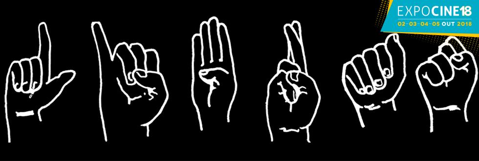 ExpoCine 2018: mãos gesticulando em Libras