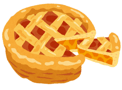 アップルパイのイラスト