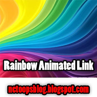 Awesome Rainbow animation Link Widget for Blogger
