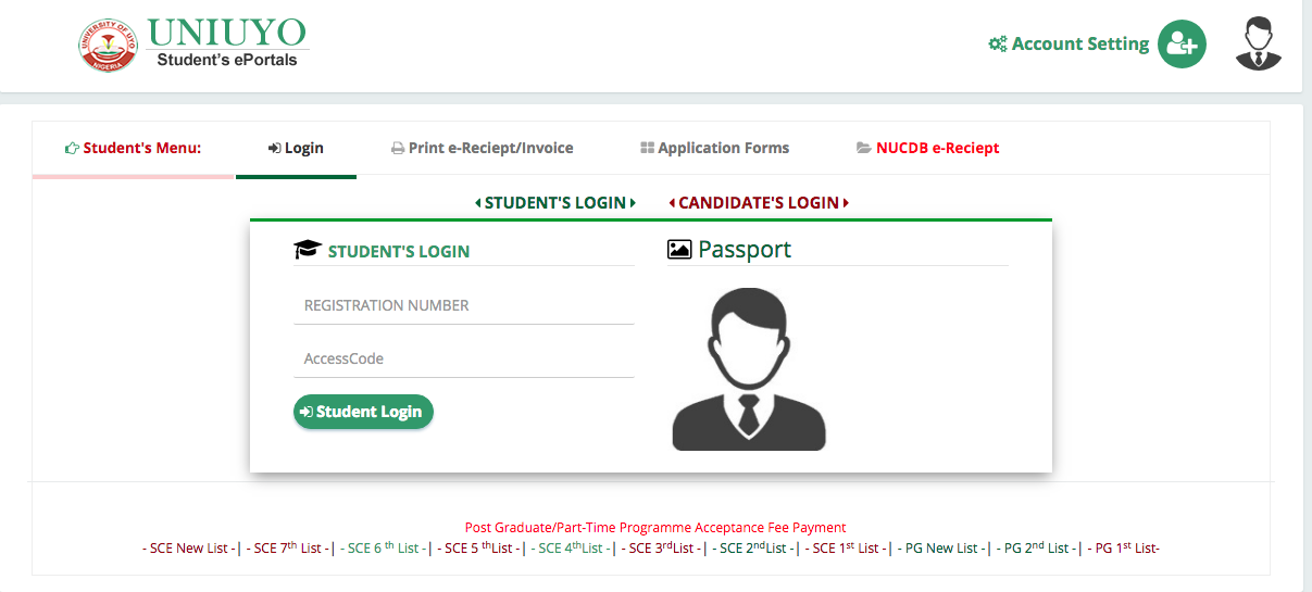 Screen%2BShot%2B2018 07 05%2Bat%2B5.39.54%2BPM - UNIUYO 2018/2019 Post UTME Form | Cut off Mark And How To Apply