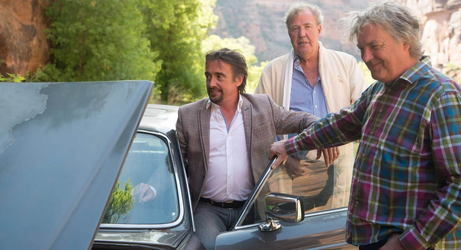 the grand tour 39 s next episode will feature three old jaguars and one epic roadtrip. Black Bedroom Furniture Sets. Home Design Ideas