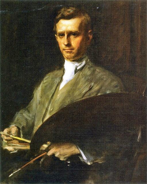 Cadwallader Lincoln Washburn, Self Portrait, Portraits of Painters, Cadwallader Lincoln, Fine arts, Portraits of painters blog, Paintings of Cadwallader Lincoln, Painter Cadwallader Lincoln