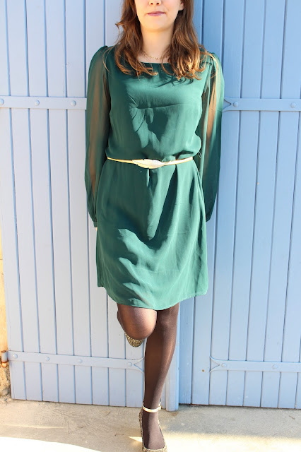 green dress primark