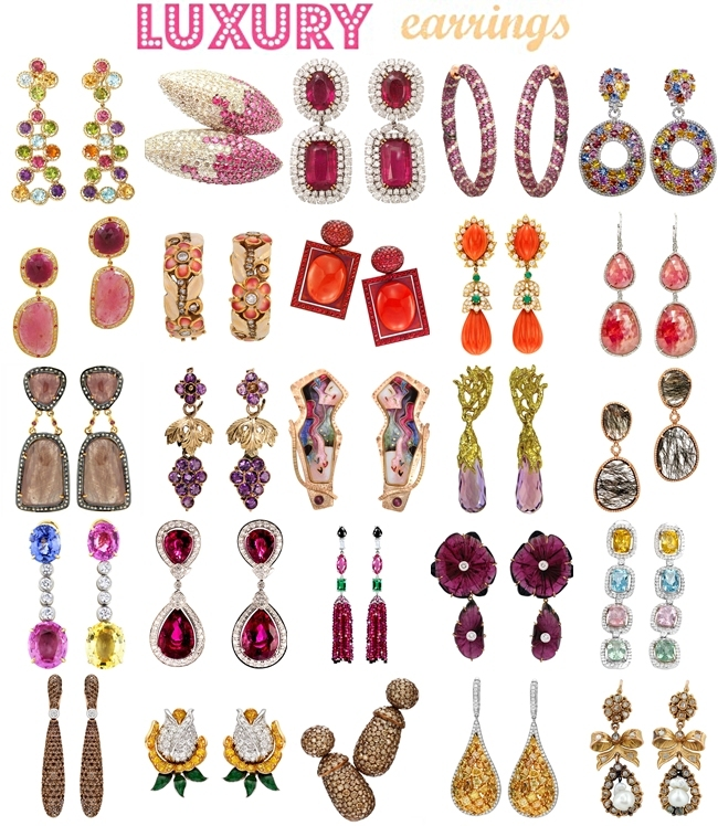 colorful luxury earrings, most expensive earrings