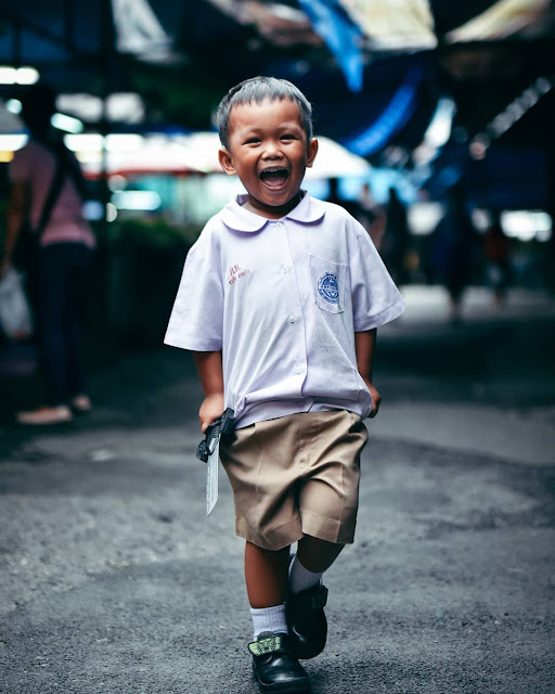 Happy smiling kid from Phuket, Thailand