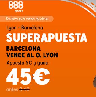 888sport superapuesta champions Lyon vs Barcelona 19 febrero 2019