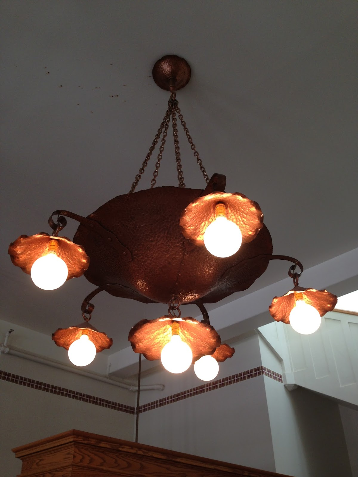 Visiting the harvey house in barstow ca la explorer arent these light fixtures amazing ive never seen anything like them before arubaitofo Image collections