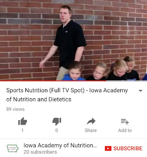 Iowa Academy of Nutrition and Dietetics Sports Nutrition Commercial