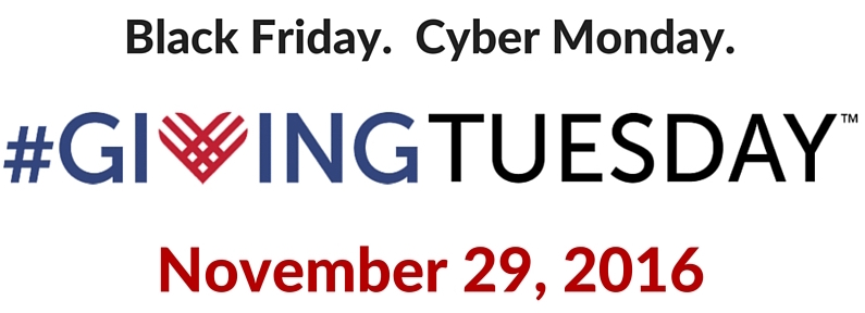 Black Friday, Cyber Monday ... #GivingTuesday ?!