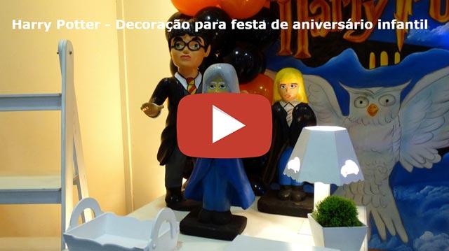 Decoração de aniversário infantil Harry Potter - Mesa provençal