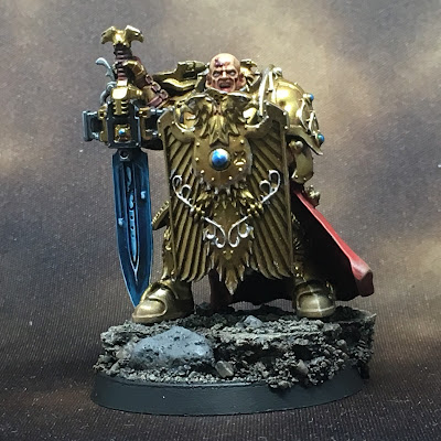 WIP Adeptus Custodes or Custodian Guard squad leader gallery shot front