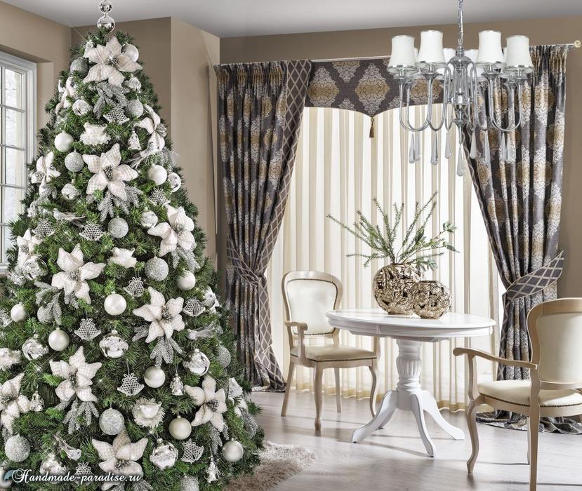 Рождественский дизайн интерьера. 20 фото (2)