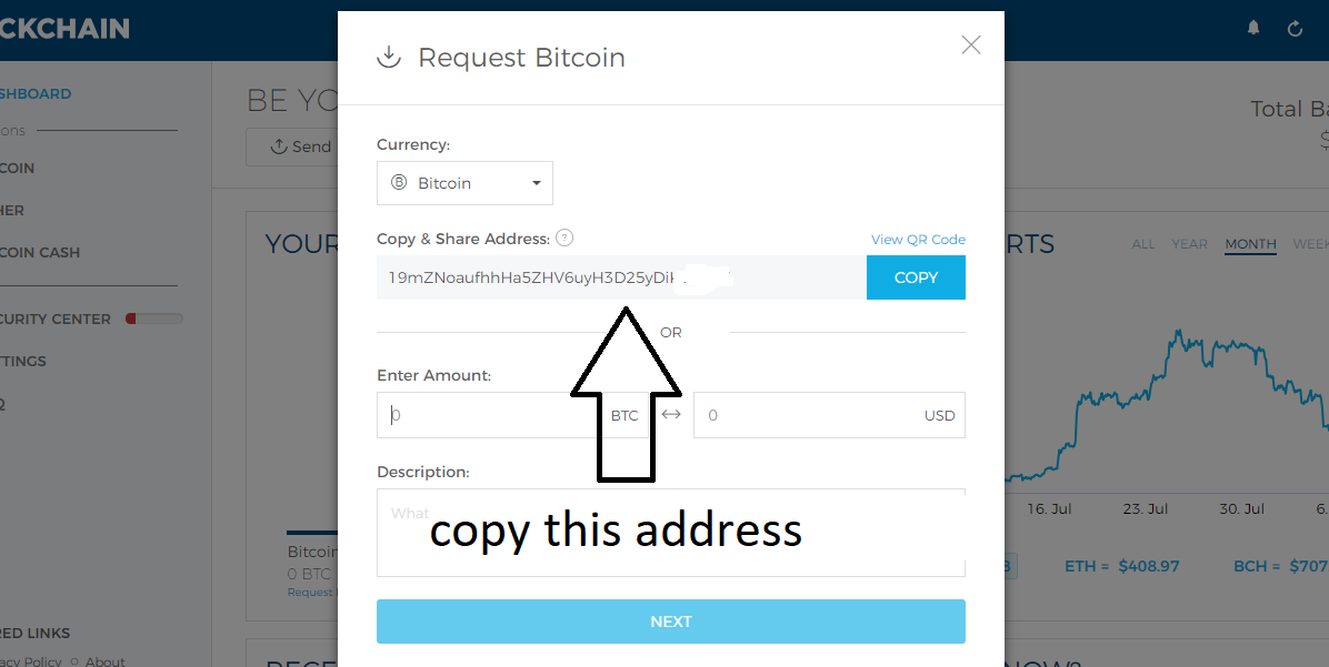 How To Create Blockchain Wallet Account,trickdunia.com