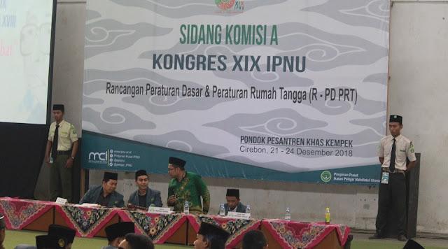 Sidang Komisi A Kongres IPNU XIX Kempek Cirebon