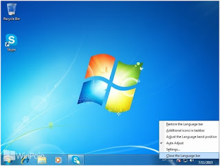 Cara menampilkan Language Bar di Windows Seven