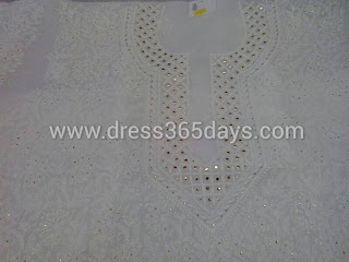 Designer Chikankari Kurti with Mukesh work