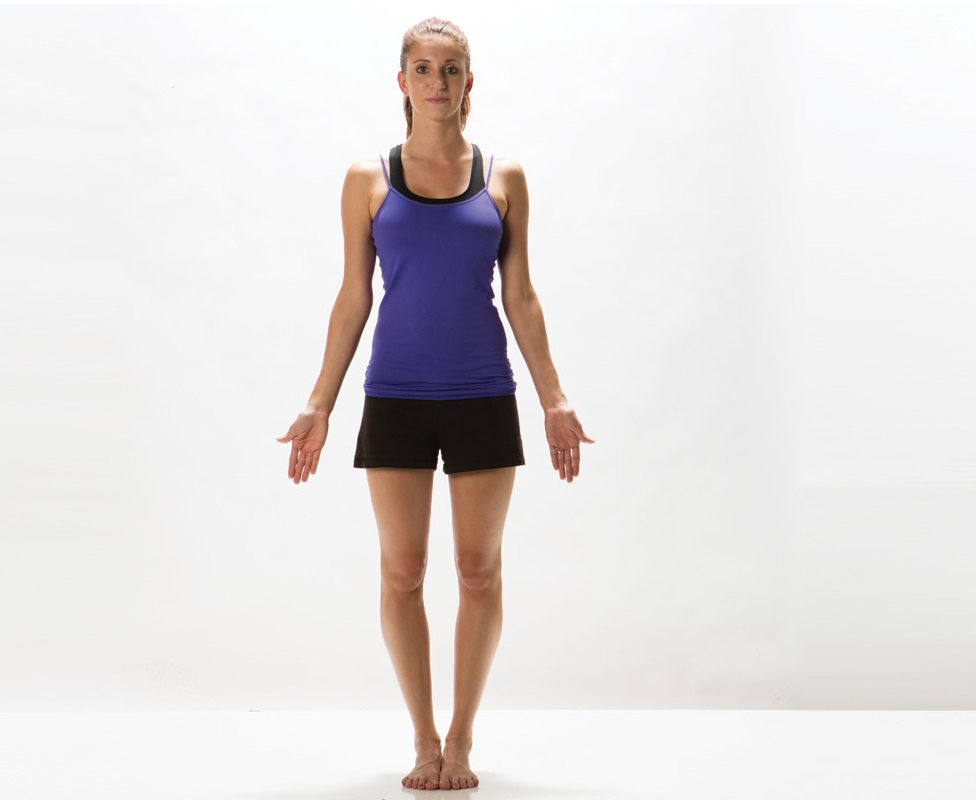 Tadasana (Mountain Pose) Yoga Steps and Benefits - Weight ...
