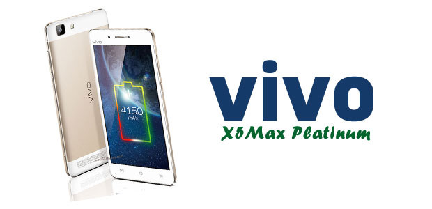 Vivo X5Max Platinum Edition Specifications - LAUNCH Announced 2015, June DISPLAY Type Super AMOLED capacitive touchscreen, 16M colors Size 5.5 inches (~69.5% screen-to-body ratio) Resolution 1080 x 1920 pixels (~401 ppi pixel density) Multitouch Yes BODY Dimensions 153.9 x 78 x 7.3 mm (6.06 x 3.07 x 0.29 in) Weight 194 g (6.84 oz) SIM Dual SIM (Nano-SIM/ Micro-SIM, dual stand-by) PLATFORM OS Android OS, v4.4.4 (KitKat) CPU Octa-core 1.7 GHz Cortex-A53 Chipset Mediatek MT6752 GPU Mali-T760MP2  MEMORY Card slot microSD, up to 128 GB (uses SIM 2 slot) Internal 32 GB, 3 GB RAM CAMERA Primary 13 MP, autofocus, LED flash Secondary 5 MP Features Geo-tagging, touch focus, face detection, panorama, HDR Video 1080p@30fps NETWORK Technology GSM / HSPA / LTE 2G bands GSM 850 / 900 / 1800 / 1900 - SIM 1 & SIM 2 3G bands TD-SCDMA 1880 / 2010    HSDPA 850 / 1900 / 2100 4G bands LTE band 3(1800), 7(2600), 38(2600), 39(1900), 40(2300), 41(2500) Speed HSPA, LTE GPRS Yes EDGE Yes COMMS WLAN Wi-Fi 802.11 a/b/g/n, dual-band, Wi-Fi Direct, hotspot NFC Yes GPS Yes, with A-GPS USB microUSB v2.0, USB Host Radio  Bluetooth v4.0 FEATURES Sensors Sensors Accelerometer, gyro, proximity, compass Messaging SMS (threaded view), MMS, Email, Push Email Browser HTML5 Java No SOUND Alert types Vibration; MP3, WAV ringtones Loudspeaker Yes 3.5mm jack Yes  - Hi-Fi 2.0 BATTERY  Non-removable Li-Po 4150 mAh battery Stand-by  Talk time Up to 25 h Music play Up to 40 h MISC Colors White  - Funtouch OS 2.0 - Active noise cancellation with dedicated mic - MP4/WMV/H.264 player - MP3/WAV/WMA/eAAC+/FLAC player - Document viewer - Photo/video editor