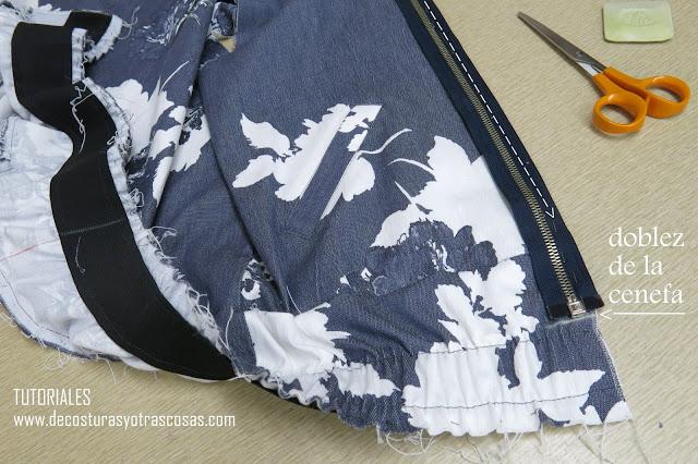 como coser cremallera separable