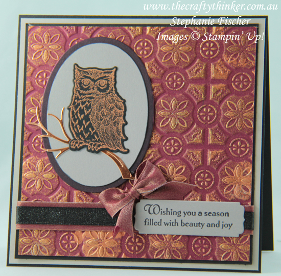 #thecraftythinker, #stampinup #cardmaking #rubberstamping #christmascard , Still Night, Tin Tile, Christmas card, Xmas Card, Stampin' Up Australia Demonstrator, Stephanie Fischer, Sydney NSW