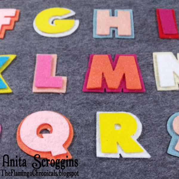 Felt alphabet game