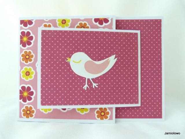 kolorowa ptaszyna na kartce