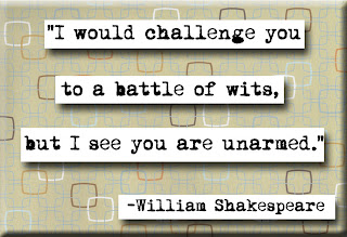 William Shakespeare Quote about challenge