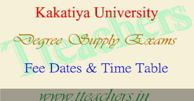 KU degree exam fee date notification 2016-2017 download
