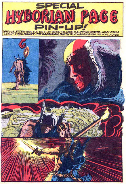 Conan the Barbarian v1 #22 marvel comic book page art by Barry Windsor Smith