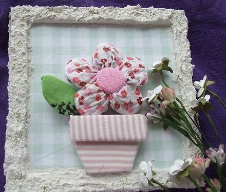 Рукоделие. Handmade: Цветы из ткани, фото