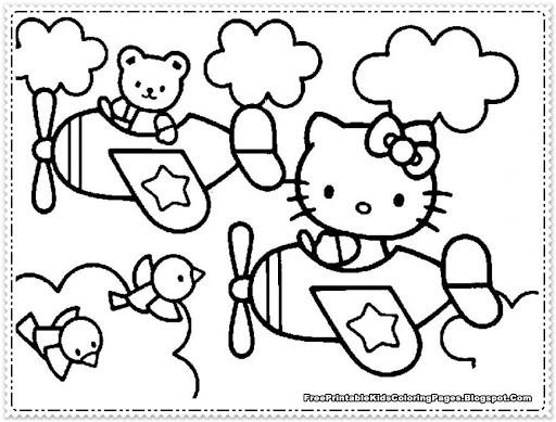 punk hello kitty coloring pages - photo#16