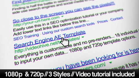 قالب After Effects للبحث في جوجل | CS5.5 فأعلى