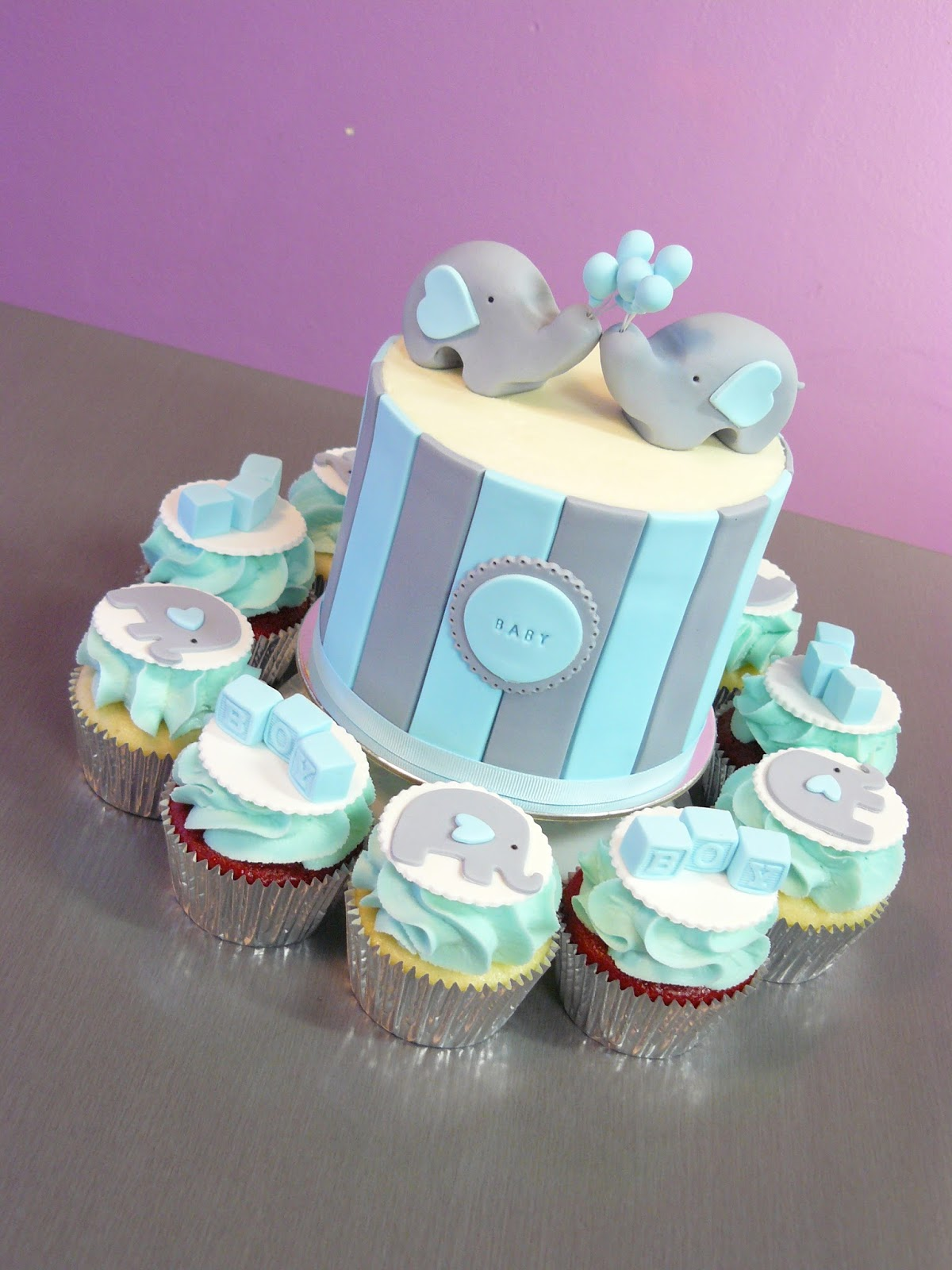 The Cup Cake Taste Brisbane Cupcakes Elephant Baby Shower Combo