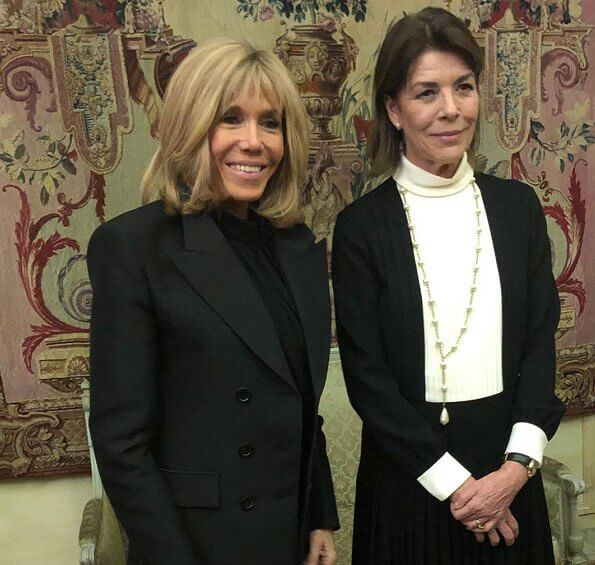 Princess Caroline of Hanover and Brigitte Macron attended 2019 awards ceremony of the Stéphane Bern Foundation