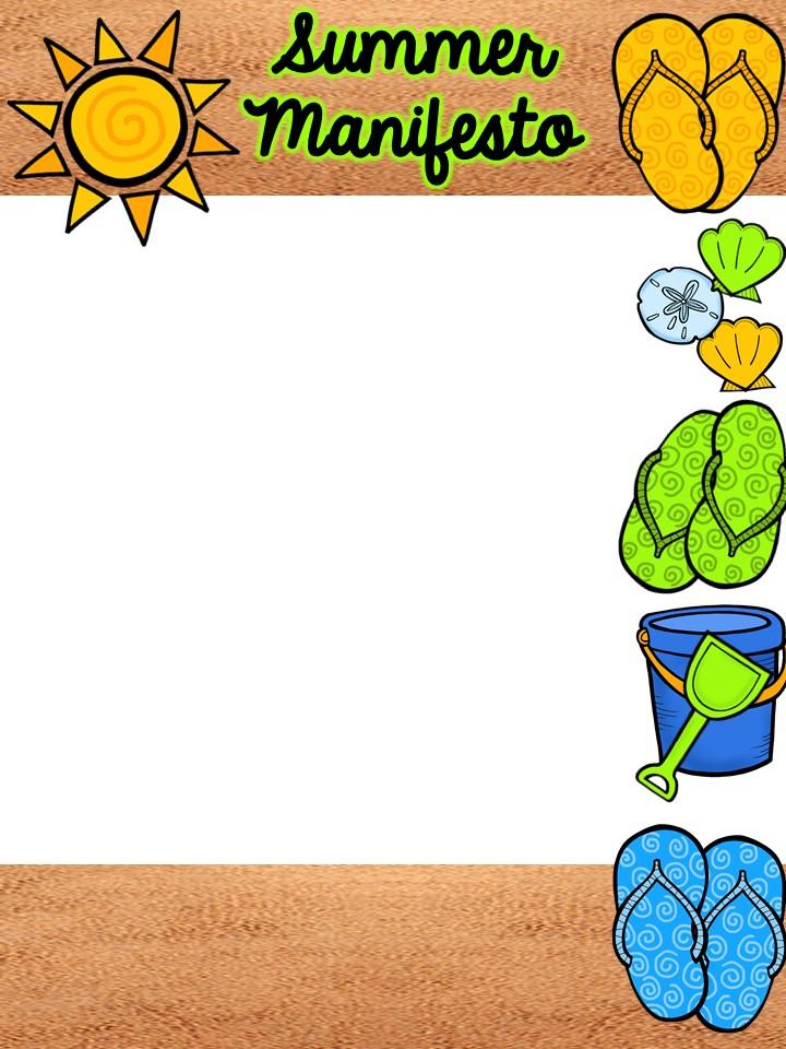 an apple for the teacher summer manifesto freebie