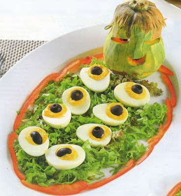 Salad trứng phong cách Halloween