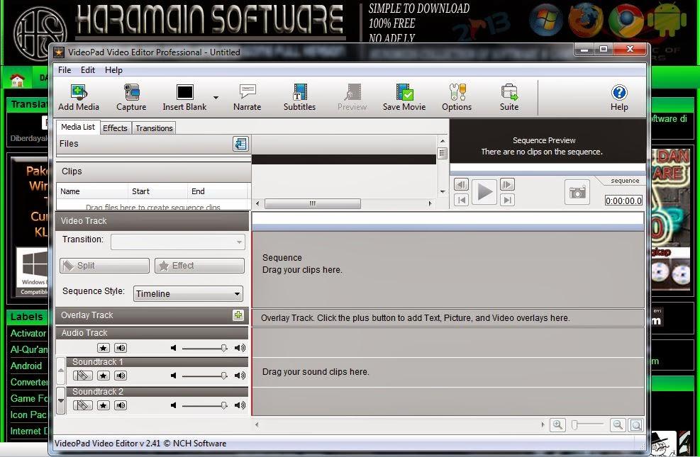 Download Videopad 2:41 Full Video Editor Professional ...