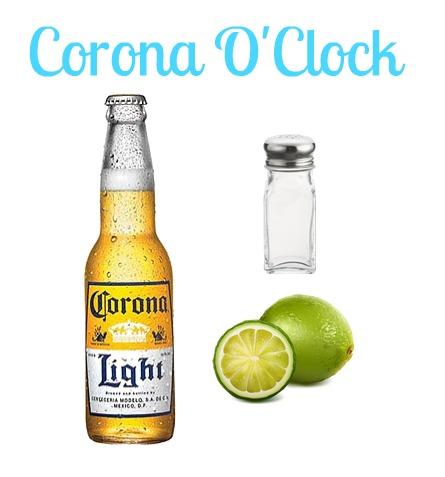 Peace Love Good Food Corona O Clock
