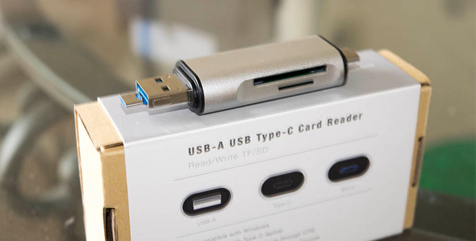 USB-C, micro USB, USB-A card reader for all my media needs