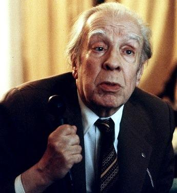 Foto de Jorge Luis Borges a colores