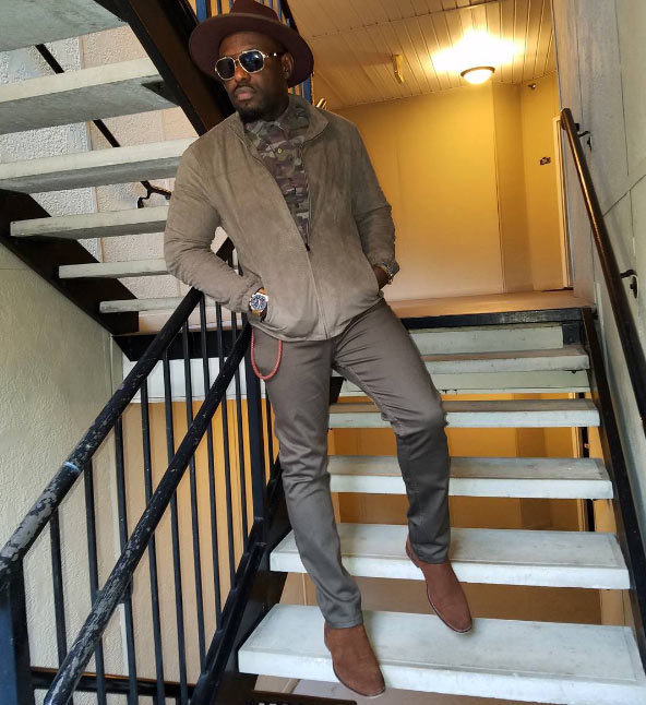 Jim Iyke looks super dapper in cowboy outfit