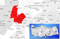 Osmaniye ili ve ilçeleriyle birlikte çevre il ve ilçeleri de gösteren harita.