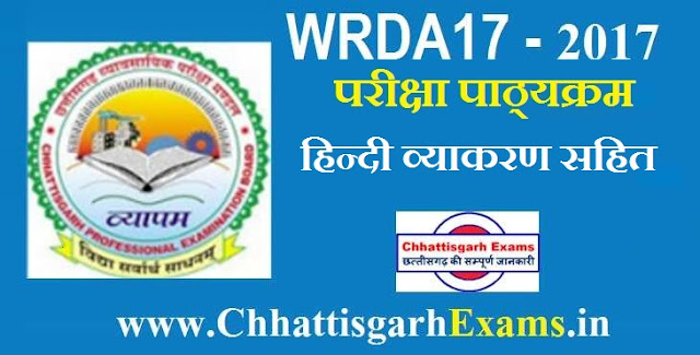 CGVYAPAM exam syllabus chhattisgarhexams.in