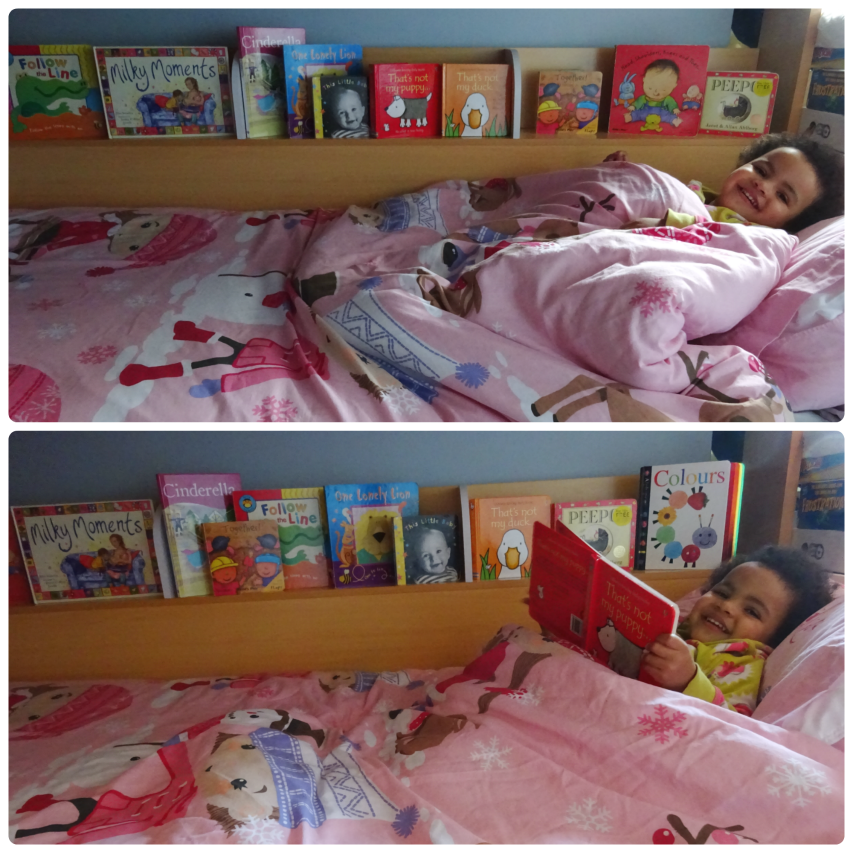 Book shelf on the domino bunk bed from Bed Kingdom