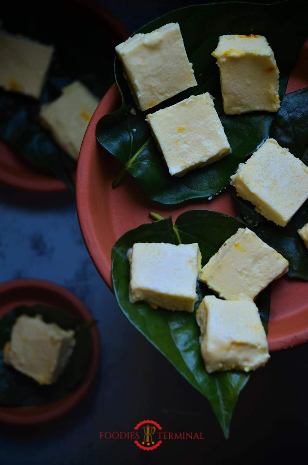 Ice-cream sandesh recipe, how to make Ice-Cream sandesh, Bengali Sondesh recipe, Bengali Ice-cream Sondesh recipe.