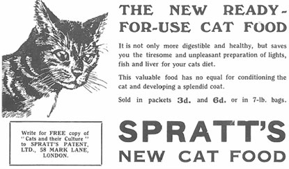 Spratt's new cat food advert 1934