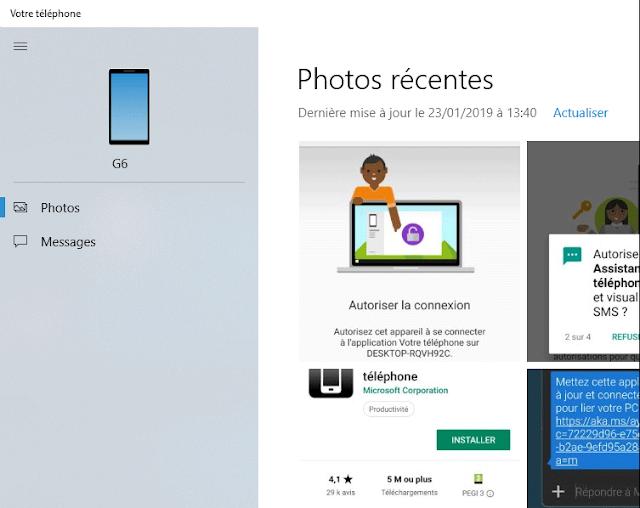 ويندوز Windows 10:طريقة ربط هاتفك مع جهاز الكمبيوتر لرؤية الصور والرسائل النصية القصيرةSMS