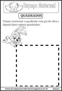 Desenho de quadrado pontilhado