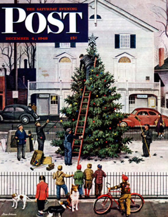 Christmas Saturday Evening Post vintage coversStevan Dohanos